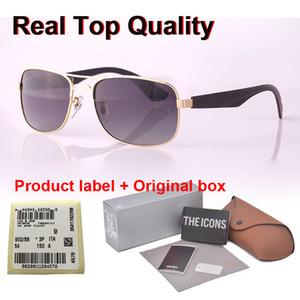 Kaliteli Marka Tasarım Polarize Perakende vaka ve etiket ile erkekler kadınlar Alaşım çerçeve Ayna polaroid lens moda güneş gözlükleri güneş gözlüğü