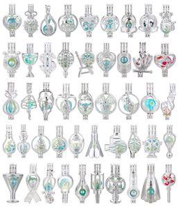 700 Entwürfe für Sie wählen -Silver Rainbow Color Medaillon Perlen-Korn-Cage Ätherisches Öl Diffuser Locket öffnen Anhänger Fun Geschenke
