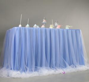 Tulle Table Skirt 파티 용 웨딩 드레스 용 DIY 식기 스커트 Tutu Wedding Birthday Party Home Textile