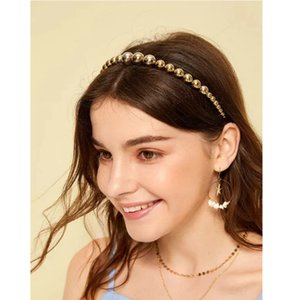 Style temperament hairband female INS fashion pearl headband Halloween golden hairpin hair accessories