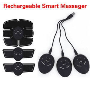 Rechargeable ABS Abdominal Muscle Stimulator usb Exerciser Device ab roller Loss Weight Slimming Training Massager gym equipment Arm and Leg
