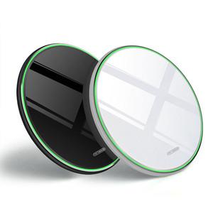 무선 충전기 10W 빠른 빠른 패드 미러 CNC 알루미늄 쉘의 아이폰 (12) (11) 프로 맥스 삼성 갤럭시 S20 + S20 충전 울트라