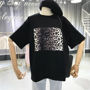 Harajuku Vintage Women Tshirt Summer New Design Leopard Print T Shirts Korean Clothes Ulzzang T Shirt Loose White Top Tees