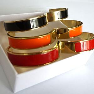 12MM Ampia Bracciale donna in acciaio inossidabile H braccialetto monili di lusso del progettista 2020 della moda di New Accessori in oro rosa all'ingrosso
