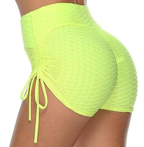 Donne Shorts Yoga balze Butt palestra di sport Push up Esecuzione elastica a vita alta Shorts Butt sollevamento Leggings Hot Pants S-XL