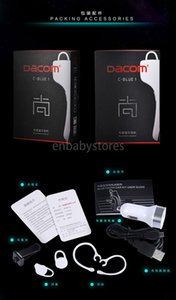 E Bluetooth Dacom C-Blue1 écouteurs sans fil pour véhicules de support avec microphone stéréo Nfc Handfree Casque Pour IPhO Téléphones portables Samsung