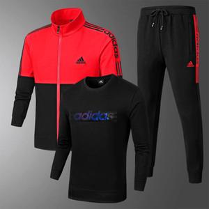 vendita calda 3pcs set sportiva Lettera Prints Tute delle donne di marca Felpa maglione + pantaloni da jogging moda maschile tuta vestiti dei vestiti Mens