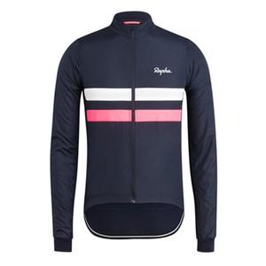 New hot sale homens equipe rapha ciclismo mangas compridas jersey top marca de qualidade da bicicleta desgaste confortável roupas de equitação esportes uniforme y081303
