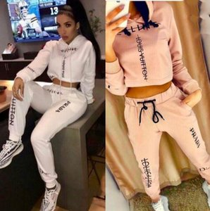 2020 hot sale European and American new women's hooded sports and leisure suit