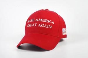 New Keep America Great Hat Donald Trump Шляпа MAGA Trump Поддержка Бейсболка Спорт Бейсболка Красного 50шта свободного корабля