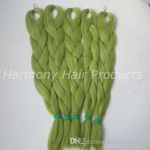 Kanekalon Jumbo Geflecht Haar 24inch Gefaltete 80grams Fest LIGHT Olivgrünfarbe Xpression Synthetic Zöpfe Hair Extension T0445
