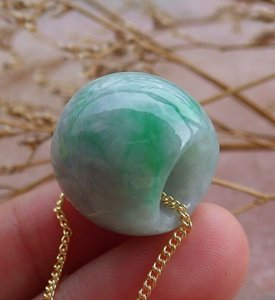 Tallone collana Circle Certified Green Natural Jade giadeite