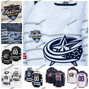 2020 All Star Spiel 3 Seth Jones Joonas Korpisalo Anpassen Columbus Blue Jacken Hockey Trikots Foligno Jenner Zach Werenski Atkinson