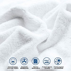 Cotton Terry Matress Cover 100% Waterproof Mattress Protector Elastic Bed Bug Proof Dust Mite Mattress Pad Cover For Mattress