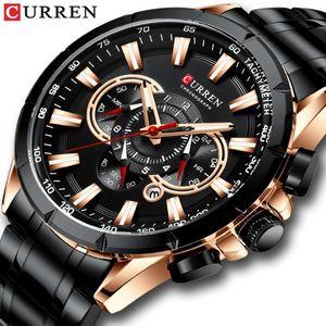 CURREN Мужские часы Мода хронограф наручные кварцевые часы Лучшие из нержавеющей стали Группа Relojes Para Hombre 8363