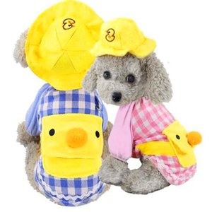 New pet warm dog clothes little yellow duck kindergarten cartoon pattern backpack puppy clothes vest can be worn all seasons