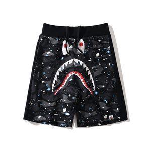 Newest Men's Black White Camo Cartoon Print Casual Beach Shorts Teenager Skateboard Sports Hip Hop Breathable Shorts
