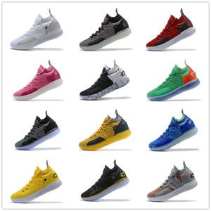 Kevin Durant 11 Nesil Savaş Boots 7 # KD Yeni Renk Şeması düşük kesim Spor Sneakers Durantula Basketbol Ayakkabı Üst Kalite