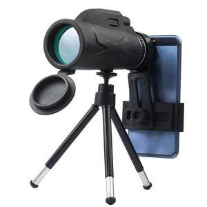 HD BAK4 80X100 Telescope Monocular Zoom Portable Prism Optical Phone Clip Tripod Hunting Camping Spotting
