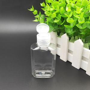 60ml Bouteille vide alcool Bouteille rechargeable en plastique transparent clair Désinfectant pour les mains pour l'activité de plein air Voyage