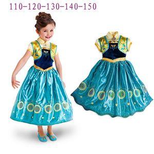 Dress regina principessa ragazza abiti Cosplay Clothes prestazioni Ice Queen partito del merletto abito per il Natale Halloween Cosplay Prop GGA3405
