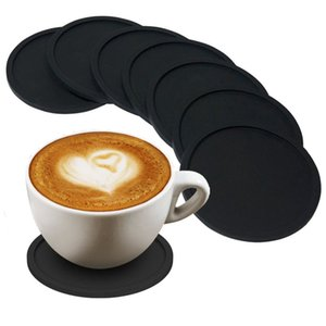 Silicone Coffee Placemat Button Coaster Drink Cup Mug Glass Beverage Holder Pad Mat Home coasters Kitchen Table Decor