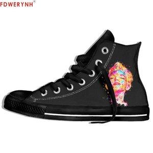 Uomini che camminano su tela ShoeswoSexy Stella Marilyn Monroe High Top misura Colore Lace-up svaghi piattaforma Espadrillas scarpe