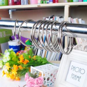Cortina de Acero inoxidable gancho anillos de cortina Rod clips anillos gancho de la cortina de baño Muebles Accesorios del metal del anillo