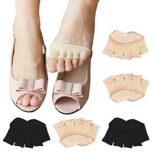 1 Çifti Kadınlar Pamuk Görünmez Dayanıklı Toeless Ayak bileği Tutma Pilates Çorap Beş parmak Anti-Kuponu Burun Yeni