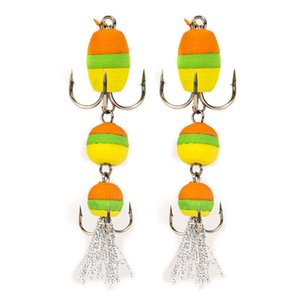 2PCS Fishing Lure Swim Bait Soft Lure High Density Foam Fishing Tackle Multicolor Artificial