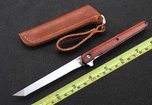 M390 couteau tactique lame lame tanto manche en bois et fer avec couteau de survie tactique tranchant de haute dureté avec revêtement en cuir