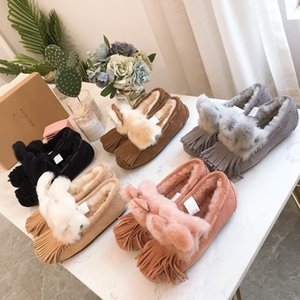 ONLINE New W Solana Loafer Tassels SLIPER snow boots driving shoes pregnant women shoes high concentration Australian wool SNOW BOOTS6bf4#