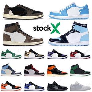Nike air Jordan Retro 1 1s chaussures de designer luxe pour hommes femmes formateurs grande semelle baskets de sport tripler noir blanc de race rose 20fw 36-45