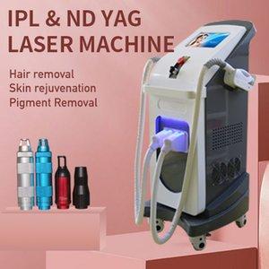 laser rf stationary multifunction ipl face lift tattoo talker removal hair removal machine elight shr rf nd yag laser