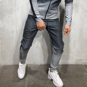 Mens Hip Hop Tracksuits 3D Gradient Men's Sports Pants menS Athletic Sweatshirts Striped Pencil Pants For Sale