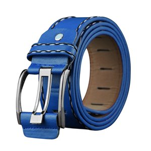 Belt For Fashion Men Women Leather Smooth Girdle Buckle Waistband High Quality Leisure Belt Strap Suit Pants Jeans Adjustable