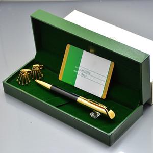 Set de regalo de cumpleaños de lujo: Rx Branding Metal bolígrafo de alta calidad + Camisa de hombre Gemelos Gemelos de joyería con empaque de caja original