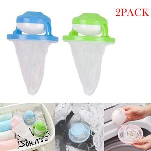 100X Home Floating Lint Hair Catcher Mesh Pouch Washing Machine Laundry Filter Bag 2019 bathroom floating pet fur catcher 815