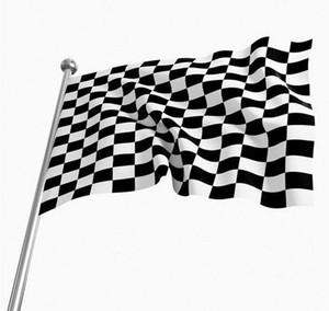 3 * 5FT Checkered Racing Flag - 90cm * 150cm Schwarz Weiß Plaid Nascar Flagge Motorsport Racing Banner Home Dekoration Party Supplies SN3913