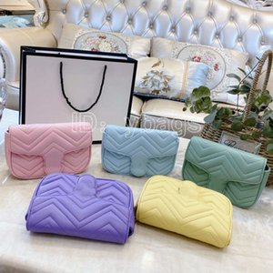 En Popüler Lüks Tasarımcı çanta Deri Macaron Moda Kadınlar Çanta Zinciri Crossbody Çanta Marka Tasarımcı Omuz Çantaları