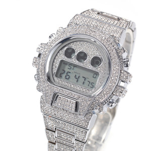 Iced Out Diamant-Uhr für Mann-Luxus-LED Digital Herren-Uhren G-Art-wasserdichte Sport-Armbanduhr Mann Fashion Male Uhr