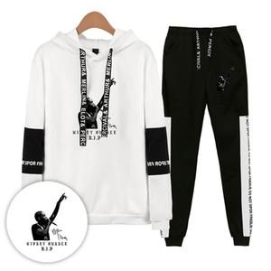 Nipsey Hussle Mens Fatos Primavera Sets Roupa descontraída Mulheres Adolescente Hoodies Calças 2pcs Suits Esporte