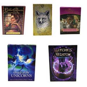 Novas 5 Estilos Inglês cartões de Oracle 101 * 74mm Unicorns Lenormand bruxas espírito animal Tarot desktop Jogo Brinquedos Z0200