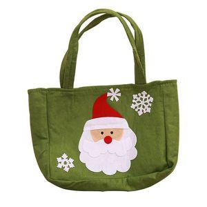 Tote Noël non-tissé Sac portable de vacances bonbons Treat Sacs Bas Supports cadeaux