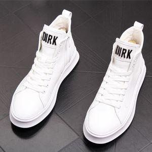 zapatos Martin de lujo, botas de cuero para jóvenes, zapatos de cuero con tendencia en el tobillo, jeans con suela gruesa, zapatos casuales para hombres con zapato de suela suave W31