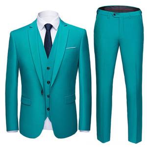 Blazer pants vest 2019 highend custom business prom Men Men's Suits & Blazers Men's Clothing suit suit mens casual wedding Tuxedo dress me