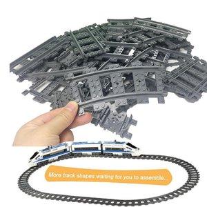 Tren Esnek Düz Kavisli Raylar Yapı Taşı Tuğla Modeli Uyumlu LegoINGlys tren İl Trein Parça Rail Tracks