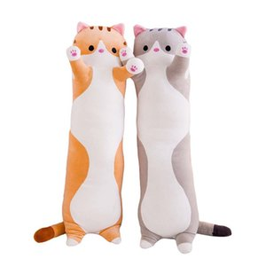 Cute Plush Cat Doll Soft Stuffed Kitten Pillow Children Knee Pillows Sleep Long Plush Toys Gift for Kids Girlfriend