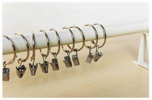 커튼 링 클립 6.3cm 도금 창 쉬운 글라이드 후크 커튼로드 클립 욕실 커튼 링은 홈 커튼 액세서리 DH0906-4 클립