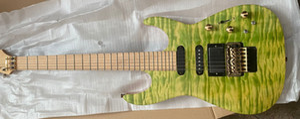 Обновление PC1 PHIL Collen Qulit Maple Top Green Electric Guitar оригинал Floyd Rose Tremolo, фиксируя гайка, активный пикап 9V аккумулятор